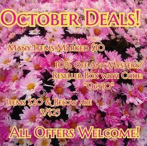 October Deals!!